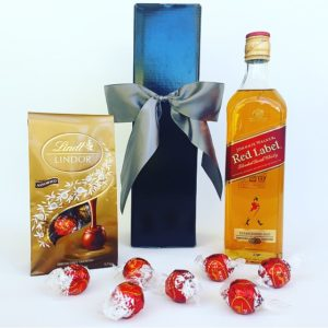 Whisky, Scotch, Johnnie Walker Red Label, bourbon, Gift, Whisky hamper, Chocolate, Chocolate gift box, Corporate gifts, realestate gifts, christmas, gift boxes, hampers, gift baskets, gift hampers sydney, christmas hampers Sydney, chocolate hampers, wine hampers, wedding gifts, Christmas hampers, Christmas baskets, gourmet hampers, gourmet gift baskets, gourmet Christmas hampers, gourmet hampers Sydney, Lindt gift box