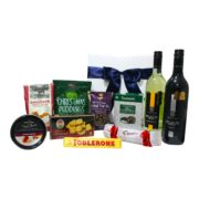 Festive, Wine, Christmas, hampers, gift hampers, gift boxes, giftbaskets, puddings, mcguigans, black label, newmans thins, ballentyne